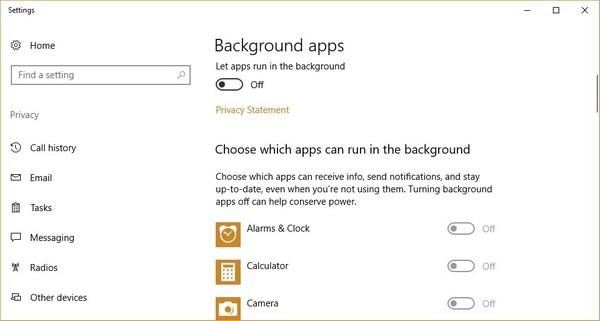 Chiêu tắt ứng dụng chạy ngầm giúp Windows 10 hoạt động mượt mà hơn - 4