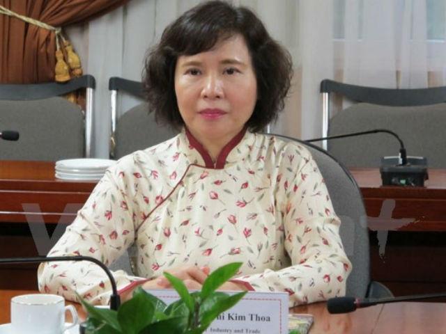 Thứ trưởng Bộ Công Thương Hồ Thị Kim Thoa (Ảnh: Internet)