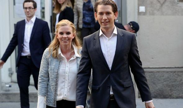Hai người bắt đầu hẹn hò khi Kurz 18 tuổi và Thier 17 tuổi. Tính đến nay, cặp đôi đã đồng hành với nhau trong suốt 13 năm qua và cô Thier được coi là hậu phương vững chắc cho sự thành công của ông Kurz. (Ảnh: Getty)