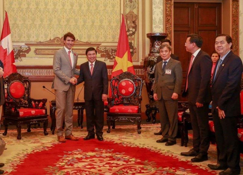 Thủ tướng Justin Trudeau cho biết rất vui mừng và vinh dự khi nhận được sự đón tiếp nồng hậu tại TPHCM