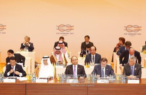 Tham dự Hội nghị Thượng đỉnh G20, Thủ tướng Nguyễn Xuân Phúc với tư cách là diễn giả chính đã có bài phát biểu quan trọng (ảnh: TTXVN)