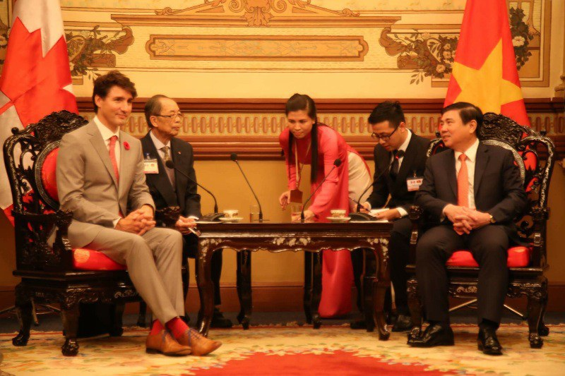 Thủ tướng Canada Justin Trudeau mong muốn tiếp tục hợp tác thương mại để đưa TPHCM phát triển hơn
