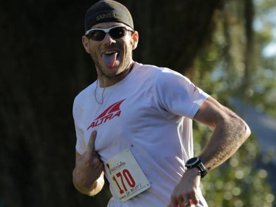 LaJaunie trong một cuộc đua marathon