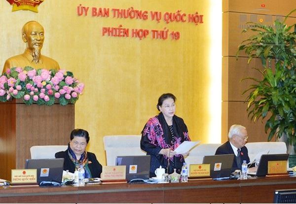 Chủ tịch Quốc hội Nguyễn Thị Kim Ngân chủ trì phiên họp thứ 19 của UB Thường vụ