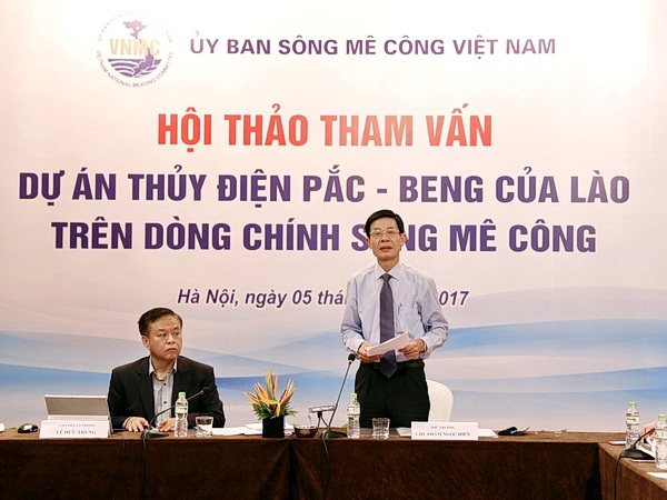 Thứ trưởng Bộ Tài nguyên và Môi trường Chu Phạm Ngọc Hiển phát biểu tại hội thảo.