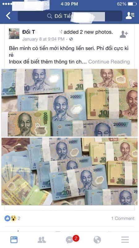 """Đổi tiền mới Tết Đinh Dậu: Ngân hàng than khó, """"chợ đen"""" chặt chém - 1"""