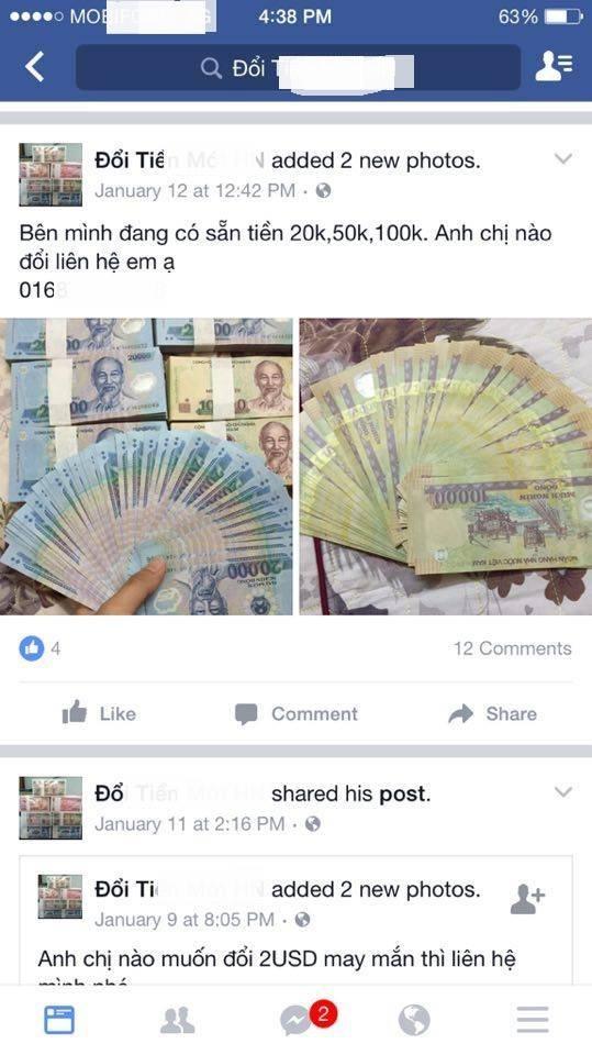 """Đổi tiền mới Tết Đinh Dậu: Ngân hàng than khó, """"chợ đen"""" chặt chém - 2"""