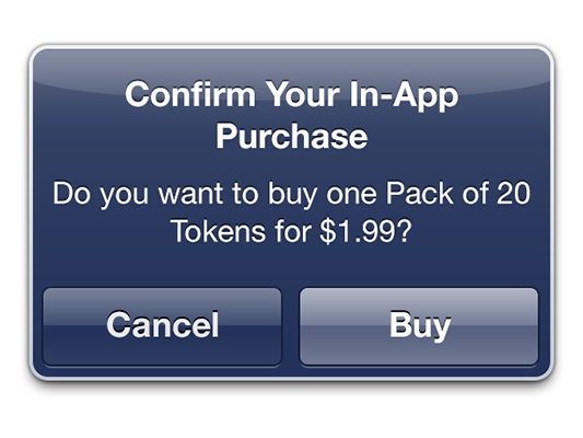 Cửa sổ yêu cầu xác nhận về việc mua hàng trong trò chơi