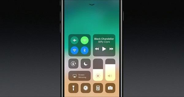 Giao diện Control Center trên iOS 11 được thiết kế lại