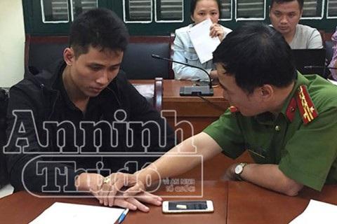 Đối tượng Phạm Thanh Tùng giữ im lặng trong suốt quá trình di lý từ Chương Mỹ về phòng CSHS - CATP Hà Nội