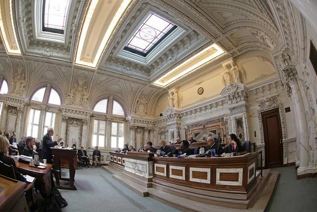 Các thẩm phán tham gia một phiên xét xử tại Tòa phúc thẩm khu vực số 9 tại San Francisco, Mỹ (Ảnh: Review Journal)