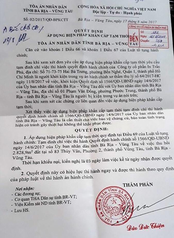 Vụ hàng trăm lao động kiện UBND tỉnh Bà Rịa - Vũng Tàu: Chờ phán quyết công minh! - 3