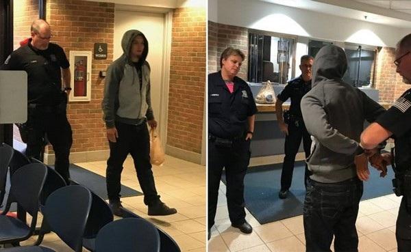 Khoảnh khắc Zaydel đến tự thú với cảnh sát sau khi thất bại trong thách thức của mình