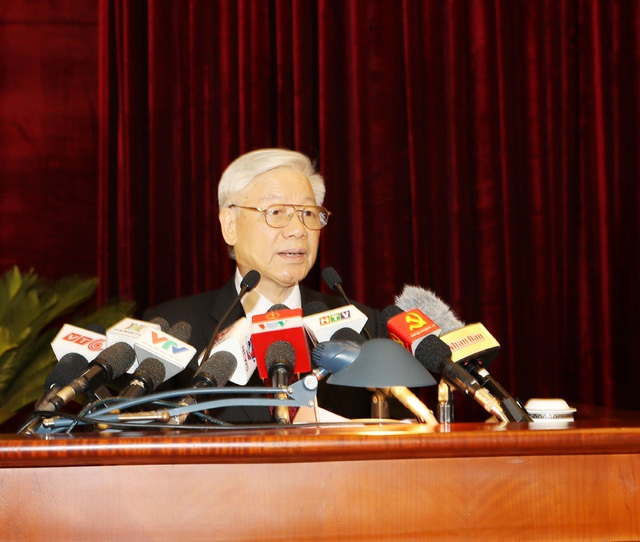 Tổng Bí thư Nguyễn Phú Trọng phát biểu khai mạc Hội nghị Trung ương 5.