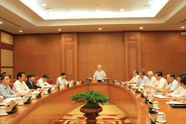 Tổng Bí thư Nguyễn Phú Trọng chủ trì cuộc họp mới đây của Ban Chỉ đạo Trung ương về phòng chống tham nhũng.
