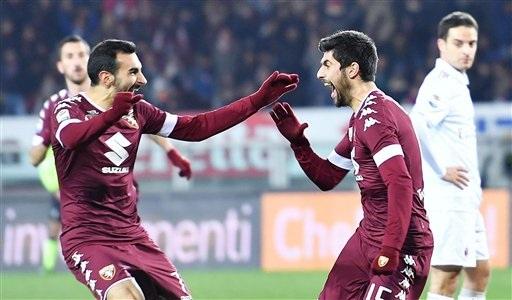 Torino đã vượt lên dẫn trước 2-0 ở trận đấu với AC Milan