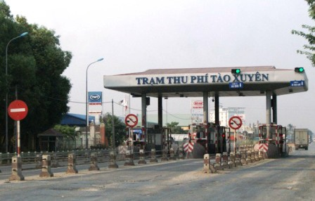 Trạm thu phí Tào Xuyên - Thanh Hóa sẽ tạm dừng thu phí từ 10/8 (ảnh: Duy Tuyên)