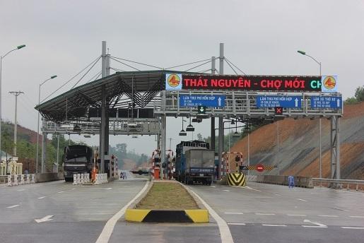 Trạm thu phí BOT Thái Nguyên- Chợ Mới (Ảnh: CTV).