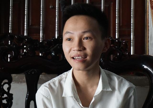 Tân sinh viên Học viên Quân y Trần Trung Kiên.