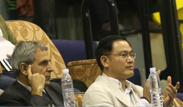 Uỷ viên thường trực, kiêm trưởng Ban futsal VFF Trần Anh Tú (phải) - ảnh: Anh Hải