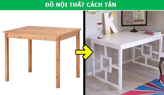 """Chỉ với sơn và một vài thanh gỗ, bạn hoàn toàn có thể """"cách tân"""" cho các món đồ nội thất nhà mình mà đặc biệt là bàn, ghế, để nó có vẻ ngoài đậm chất cá nhân. Từ đó, giúp không gian nội thất trở nên thật """"khác biệt""""."""