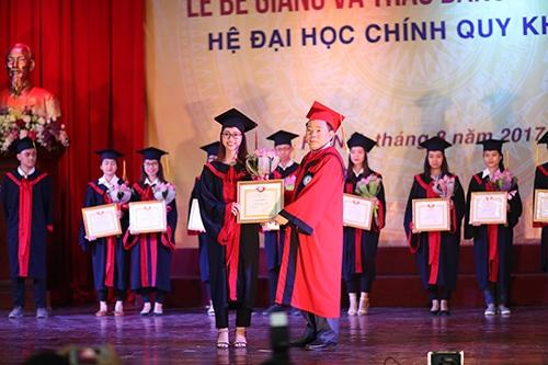 PGS.TS Nguyễn Trọng Cơ Giám đốc Học viện Tài chính trao bằng khen cho 10 Thủ khoa tốt nghiệp xuất sắc