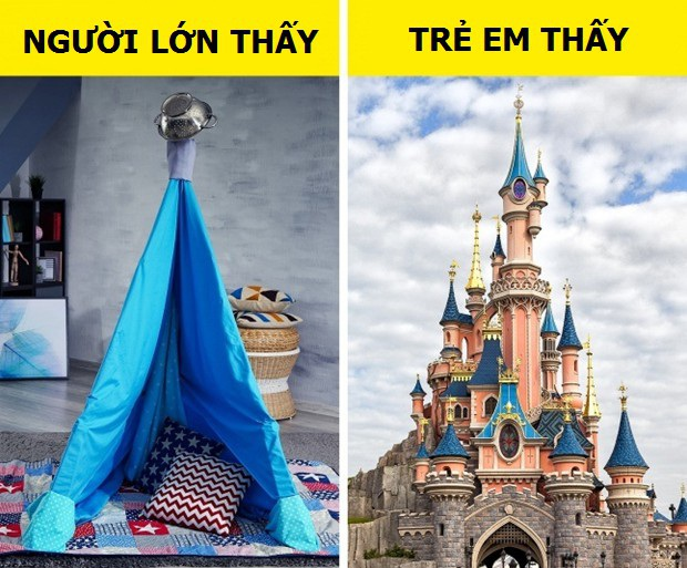 Một túp lều dựng tạm bằng chăn hoặc bìa carton trong nhà là cả một vương quốc riêng của trẻ thơ.