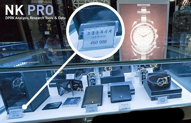 Chiếc đồng hồ có giá 460.000 won tại Triều Tiên (Ảnh: NK Pro)