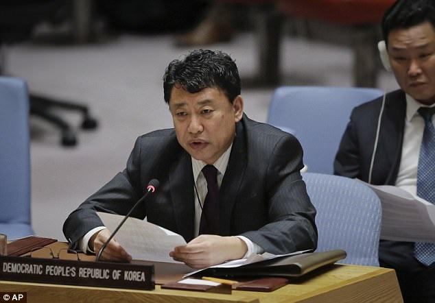 Phó Đại sứ Triều Tiên tại Liên Hợp Quốc Kim In Ryong (Ảnh: AP)