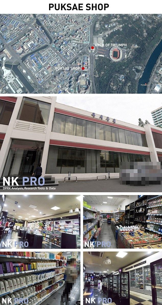 Cửa hàng Puksae bán đồ xa xỉ tại Triều Tiên (Ảnh: NK Pro)
