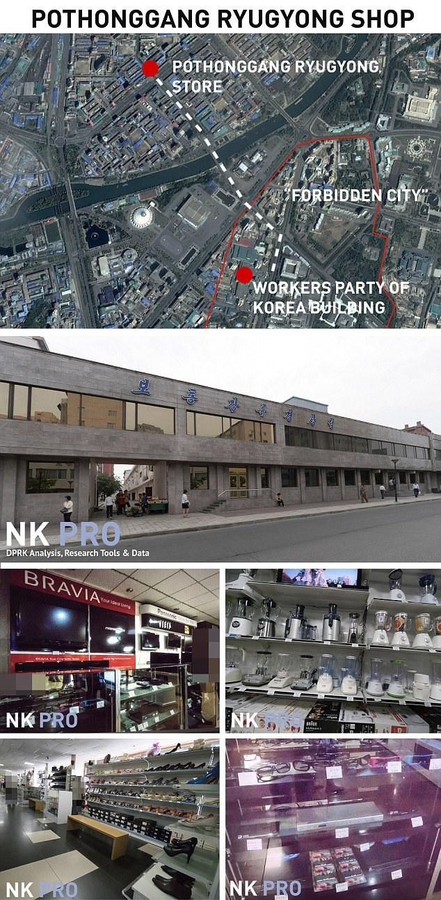 Cửa hàng Pothonggang Ryugyong tại thủ đô Bình Nhưỡng (Ảnh: NK Pro)