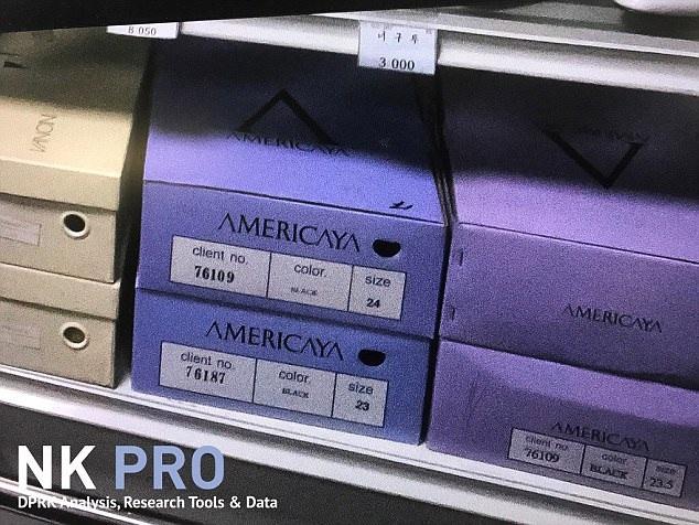 Thương hiệu giày nước ngoài được bán tại cửa hàng ở Bình Nhưỡng (Ảnh: NK Pro)