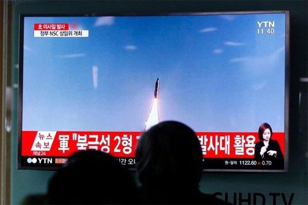 Triều Tiên đã nhiều lần phóng thử tên lửa thời gian gần đây. (Ảnh: EPA)