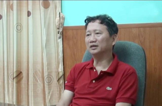 Ông Trịnh Xuân Thanh trả lời phỏng vấn trên VTV1.