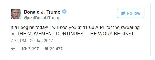 Ông Donald Trump tuyên thệ nhậm chức, trở thành tổng thống thứ 45 của Mỹ - 24