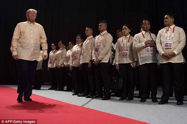 Tổng thống Mỹ Donald Trump dự hội nghị ở Philippines. (Ảnh: AFP)