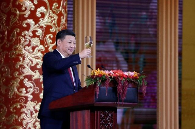 """Phát biểu tại buổi tiệc, Chủ tịch Tập Cận Bình đã mô tả chuyến thăm của Tổng thống Trump tới Trung Quốc là sự kiện có """"tầm quan trọng lịch sử"""" và chúc mừng cho sự thịnh vượng của hai nước. (Ảnh: Reuters)"""