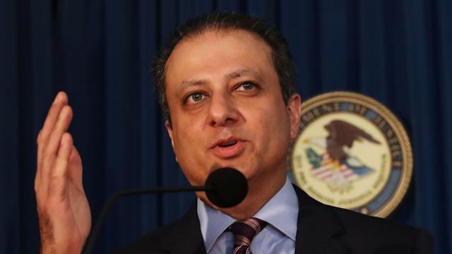 Công tố viên quận Nam của New York Preet Bharara đã bị chính quyền Trump sa thải hồi tháng 3 sau khi từ chối từ chức. Trước đó, chính ông Trump đã yêu cầu ông Bharara tiếp tục làm việc. (Ảnh: 9news)