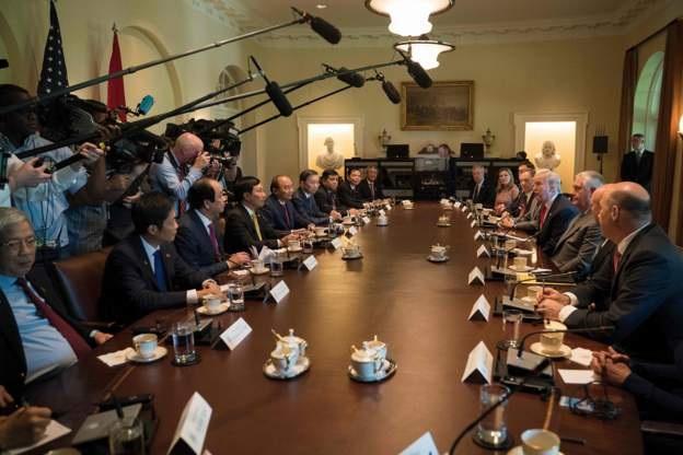 Phái đoàn hai bên đã có cuộc họp vào ngày 31/5 theo giờ địa phương. (Ảnh: AFP)