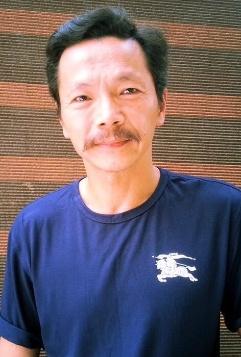 Nghệ sĩ Trung Anh ngoài đời thường.