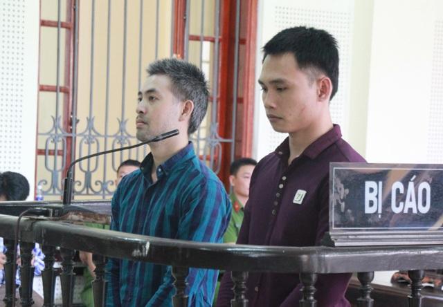 Lê Hồng Trung và Chu Đình Dương tại phiên tòa