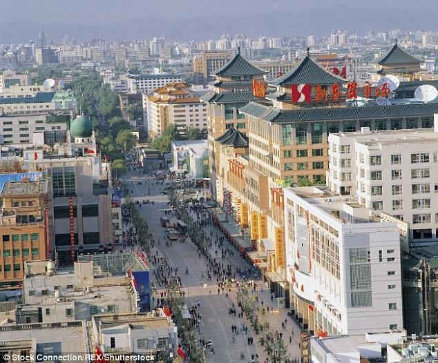 Nhà hàng dim sum nơi xảy ra vụ việc nằm ngay trên một con phố sầm uất ở Bắc Kinh