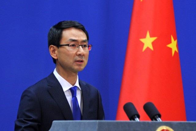Người phát ngôn Bộ Ngoại giao Trung Quốc Cảnh Sảng (Ảnh: Philstar)
