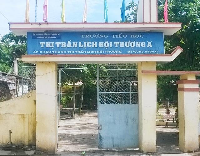 Trường Tiểu học Thị trấn Lịch Hội Thượng A, nơi có tình trạng học sinh ngồi nhầm lớp.