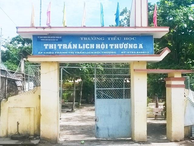 Trường Tiểu học thị trấn Lịch Hội Thượng A, nơi xảy ra vụ giáo viên tố cáo hiệu trưởng nhưng bị kỷ luật.