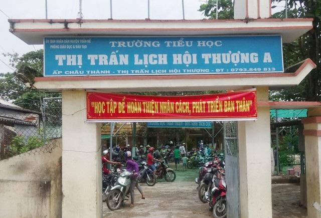 Trường Tiểu học thị trấn Lịch Hội Thượng A, nơi xảy ra vụ việc.