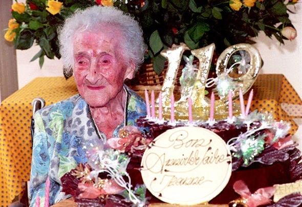 Bà Jean Calment giữ kỷ lục già nhất thế giới khi sống tới 122 tuổi.