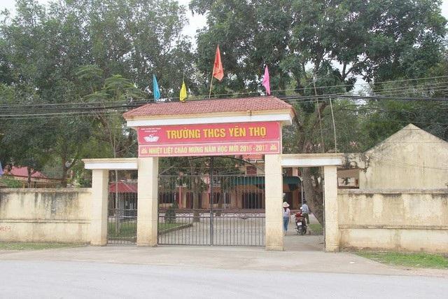 Trường THCS Yên Thọ, nơi giáo viên hoảng loạn vì phụ huynh vào trường dọa giết