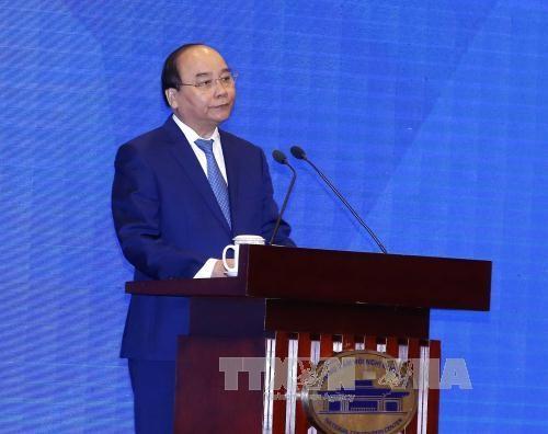 Thủ tướng phát biểu khai mạc Hội nghị các Bộ trưởng Phụ trách Thương mại APEC lần thứ 23 (MRT 23), sáng 20/5 (ảnh: TTXVN)