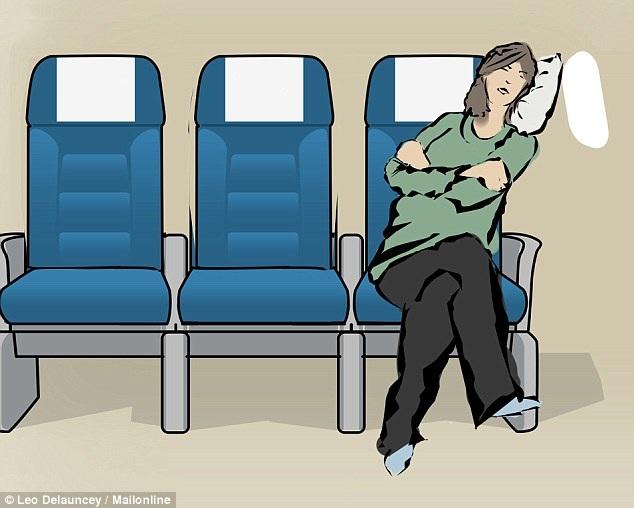 8 tư thế giúp bạn dễ ngủ hơn khi đi máy bay - 1